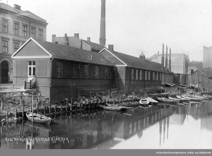 E22 24 Kristiania kommunale provianteringsråds fiskematkjøkken i Elvegata, ved Akerselva,.1916-20.png