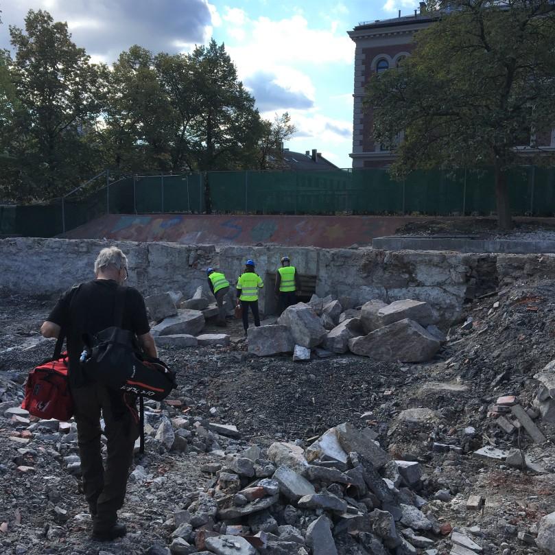 Nedgang Ruseløkka ifm riving av skolen