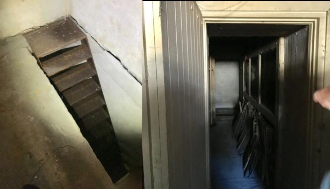 Ruseløkka trapp og treinteriør koblet
